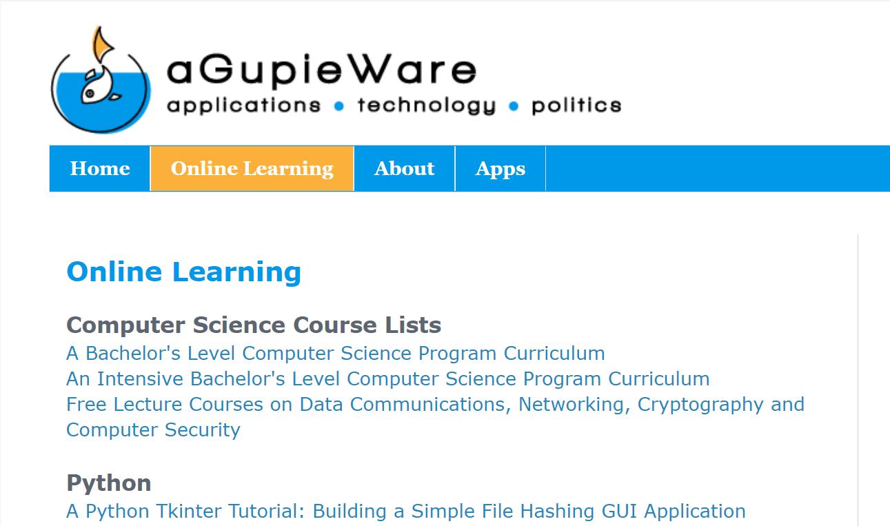 AGupieWare lập trình miễn phí