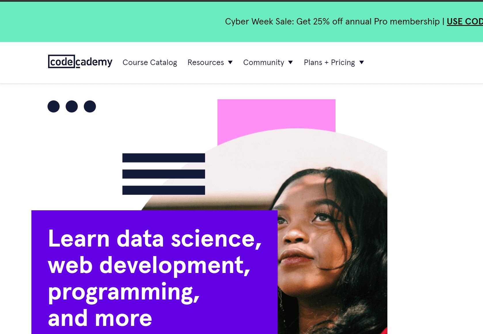lập trình online Codecademy