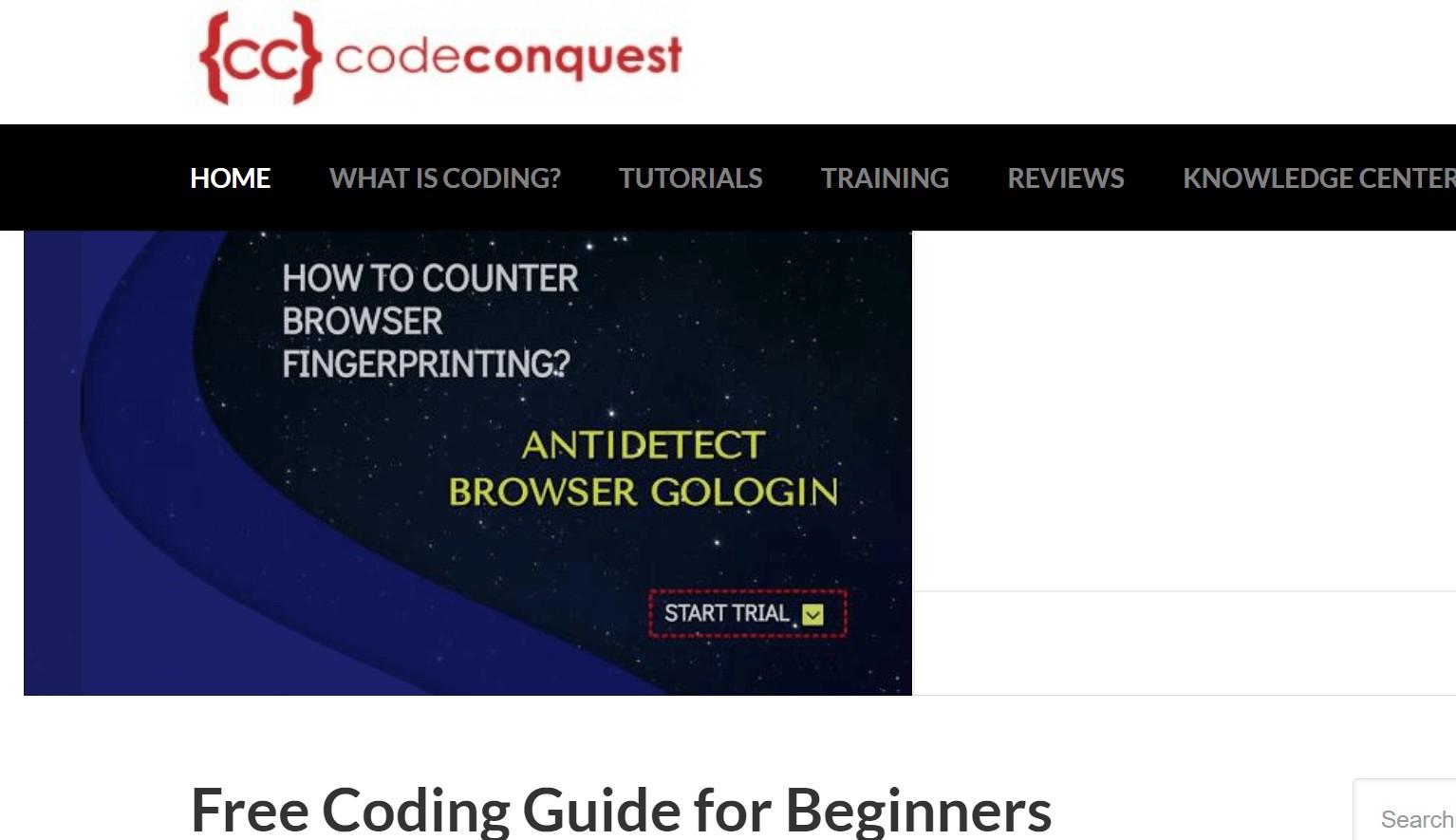Code Conquest dạy lập trình