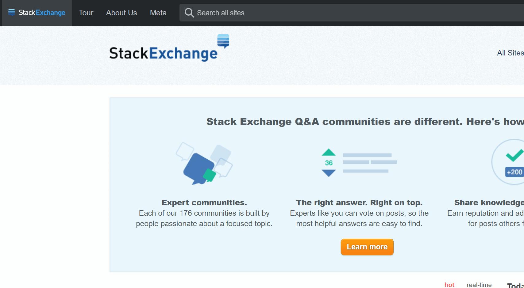 web stackexchange cho lập trình viên