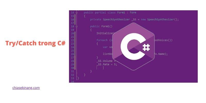 Cách xử lý ngoại lệ trong C#, Try/Catch trong C# là gì?