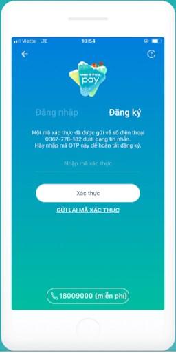 xác thực mã otp cho ứng dụng viettel pay
