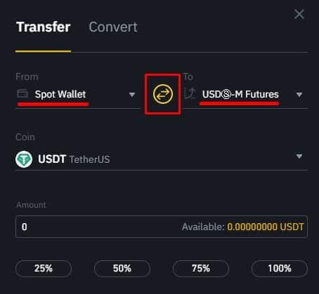 transfer binance coin