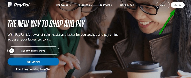 đăng ký tài khoản paypal