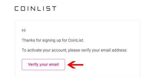 kiểm tra mail từ coinlist