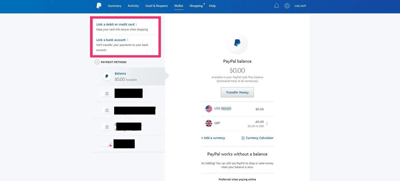 liên kết tài khoản PayPal với thẻ Mastercard