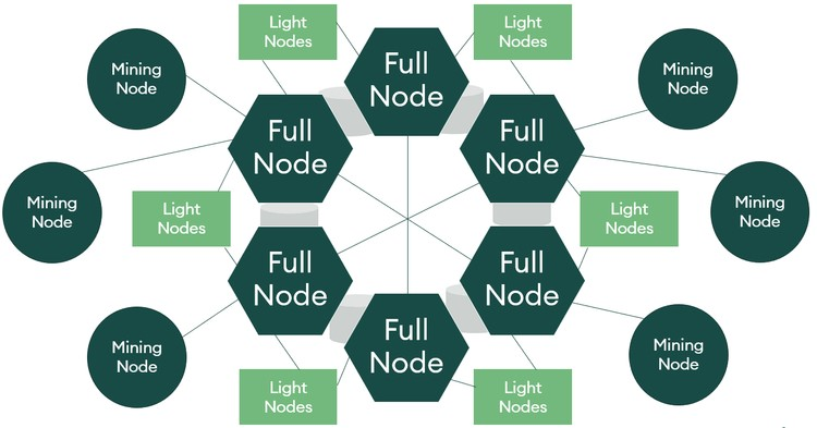 client node và mining node