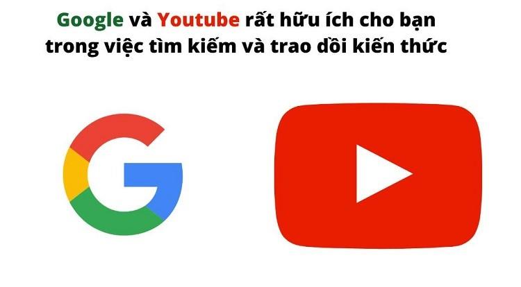 học kiến thức từ google và youtube