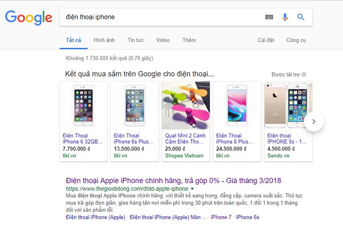 quảng cáo google ads feed