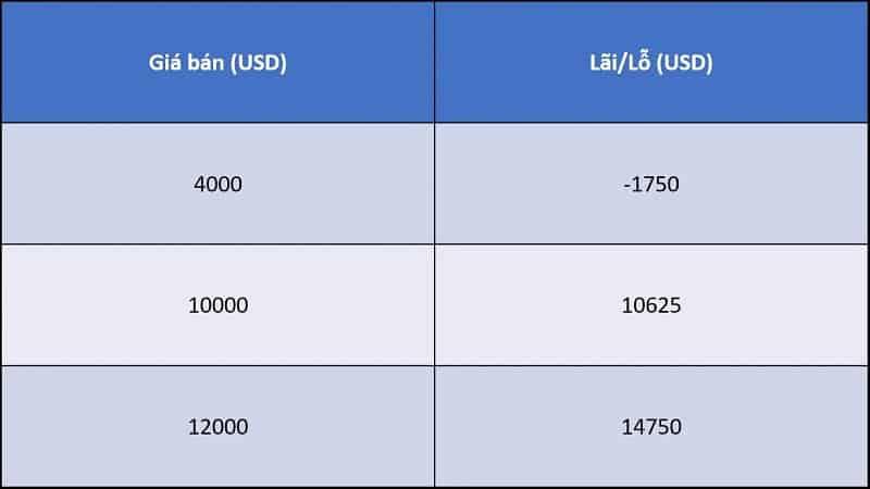 mức giá theo dca ví dụ 2