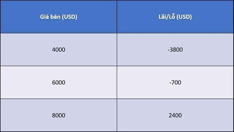 mức giá theo dca ví dụ 3