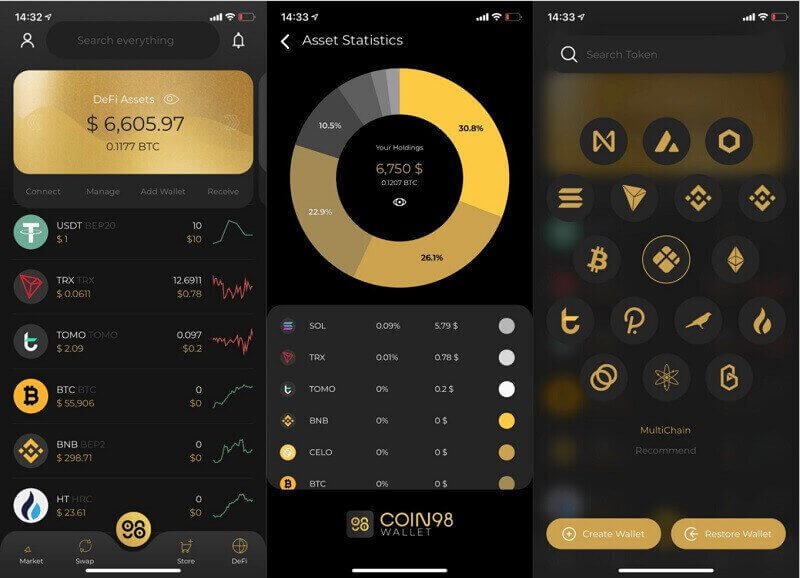 ứng dụng coin 98 wallet