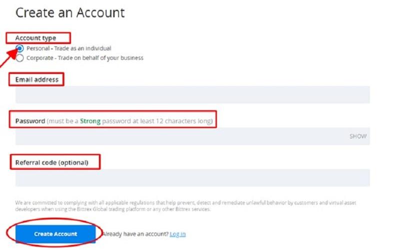 đăng ký tài khoản bước 2